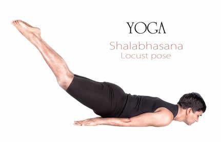 Shalabasana Yoga Übung Heuschrecke