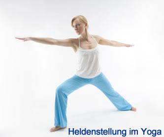 Heldenstellung Yoga - Vira Bhadrasana