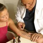 Allergie Hauttest beim Arzt